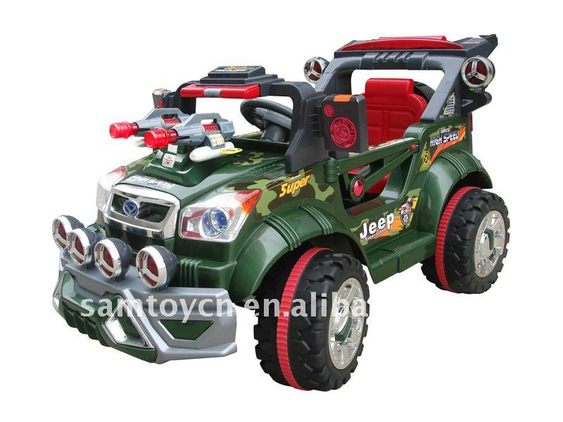 rc electric ride on car,big jeep with guns and MP3