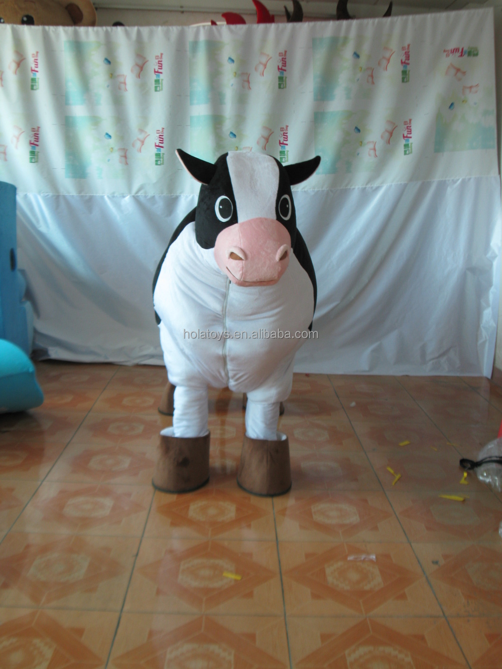 Hola new animal costumes/realistic animal costumes cow mascot costume