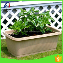 Gardenning decoration outdoor layout long-four sided PP plastic flower pot in Household and family