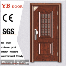 90 minutes fire-rated simple design main latest gate stainless steel security door