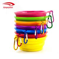 Pet Cat Food Water Feeding Portable Travel Bowls Foldable Silicone Collapsible Dog Pet Feeding Bowl