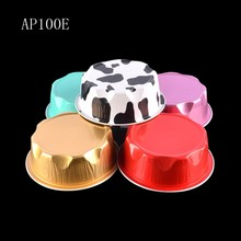 BAKEST small round tin containers hot sale pudding cup cake mold muilt colors for choose