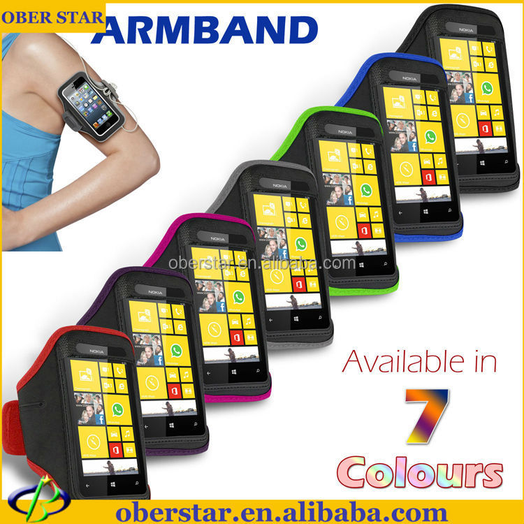 phone accessory Water proof Sport jogging running gym armband Strap Case For Nokia Lumia 520 cover