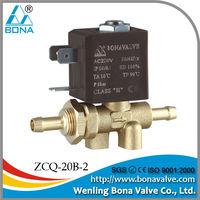 BONA ZCQ-20B-2 Voltage 24VDC low noise brass solenoid valve