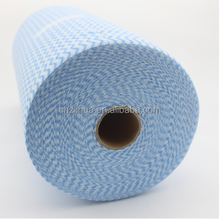 High Quality nonwoven household spunlace wipe cleaning cloth rolls , OEM nonwoven big extra large rolls for household cleaning