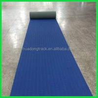 Rubber flooring roll type synthetic running track for track and field used sport flooring