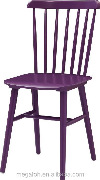Antique wooden purple high back chair for hotel restaurant (FOH-BCA83)