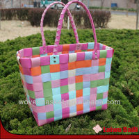 100%handmade colorful plastic handbag