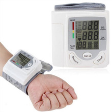 Health Care Wrist Blood Pressure Monitor Automatic Monitor Measuring Heart Beat Meter Electronic Sphygmomanometer