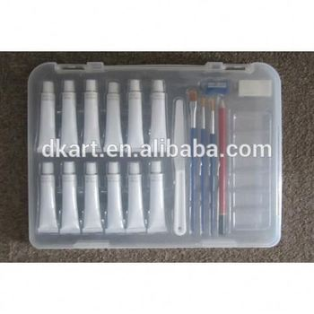 Acrylic Painting set with brush palette plastic box