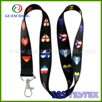 Custom high quality international flag lanyard with your brand