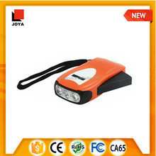 3 led hand charge torch light, emergency uses led light, hand crank powered flashlight