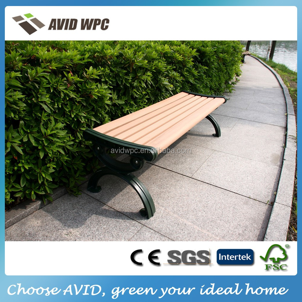 China factory direct supply and cheap wood plastic composite timber benches for sale