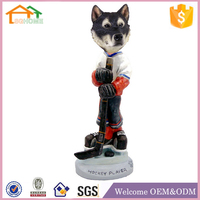 Factory Custom made home decoration polyresin hockey player figurine