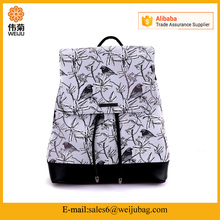 China Yiwu MUSAA outdoor school PU pattern leather backpack bag for men woman