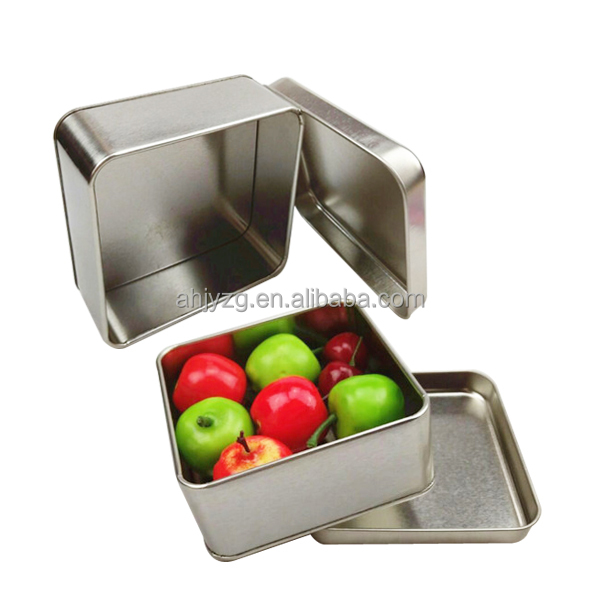 square metal snack box packaging oem accepted