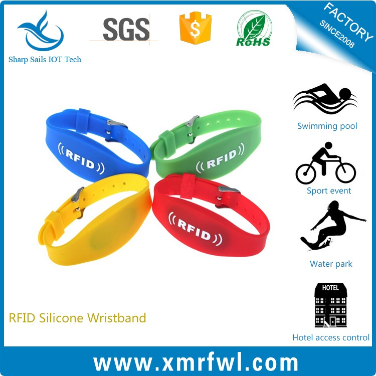 Plush artificial RFID wrist band for wedding party