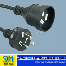 Australian SAA power extension cable with plug