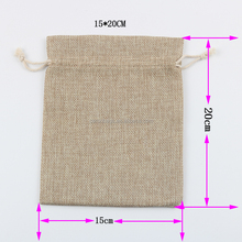 Promotional eco friendly jute burlap drawstring bag pouches for wheat,rise and coffee beans packing