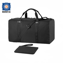 New Design Ligntweight Nylon Black Portable Duffel Water Resistant Travelling Bags Foldable Duffle Travel Bag for Men