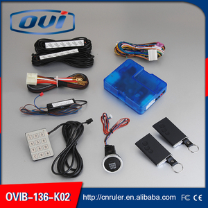 Universal Car alarm Remote Control Push Button Engien Start/Stop System PKE Keyless go,Central Door Locking System