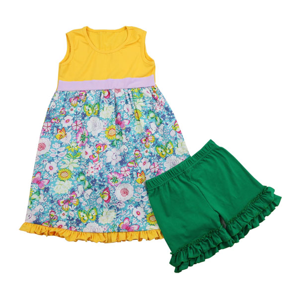 2016 hot sale Toddler Girls Wholesale China yiwu Factory Cheap Baby Girl Children Summer Clothes Pictures