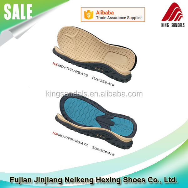 20 Years Factory Wholesale EVA Insole and TPR Men Sandal Outsole