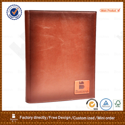 2016 high quality embossing a4/a5/a6 presentation pu/pvc/genuine leather file folder