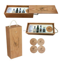 Cover And Push Type Luxury Wooden Wine Boxes