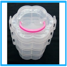 Multifunction Flower Shape Plastic Storage Box With Lid