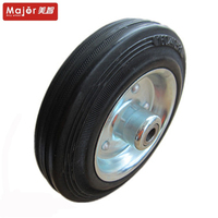 125/37.5-50 small solid rubber tire wagon push cart wheel for toys