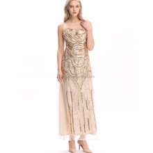 BestDance hot sell sequin beaded Embellished Flapper 20's Gatsby Prom Long Dress