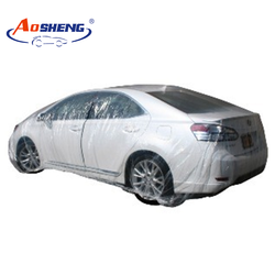 Dust resist disposable plastic car cover
