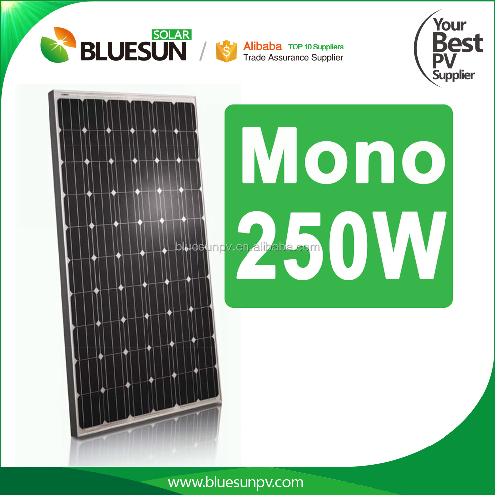 250W Mono Best quality high efficient paneles+solares+chinos+precio