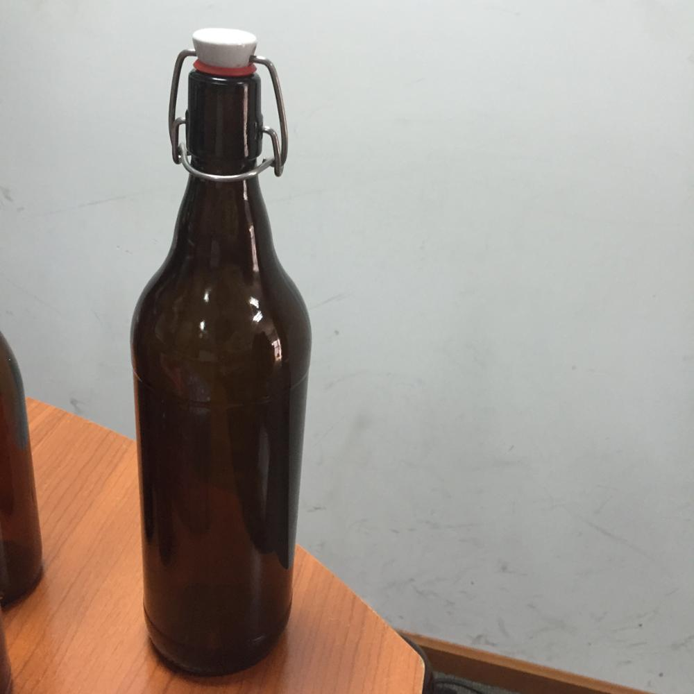 beer glass 0.5L Clear Glass Wine Bottles Bale Wire