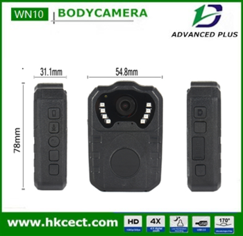 Metal clip 360degree infrared night vision 10m body camera 1080p