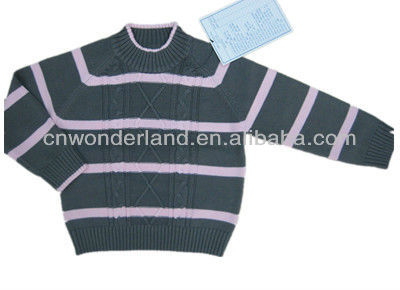 Hot Sale Baby Clothes kids stripe sweater baby boy sweater designs