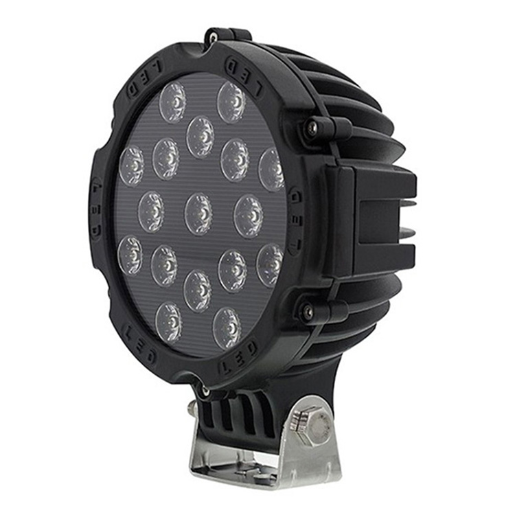 51w 4x4 atv led light 7 inch round led driving light with CE RoHS IP67