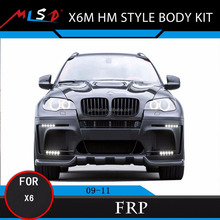 Auto Tuning Styling Bumpers X6M Wide Body Kit for BMW X6 Bodykits 2009-2011