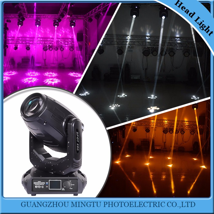 New products 10R 280w 3in1 spot beam wash sharpy moving head stage light