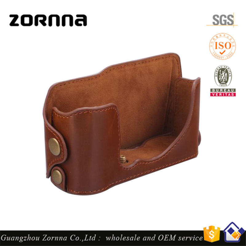Fashion wholesale lowest price genuine leather vintage dslr camera bag