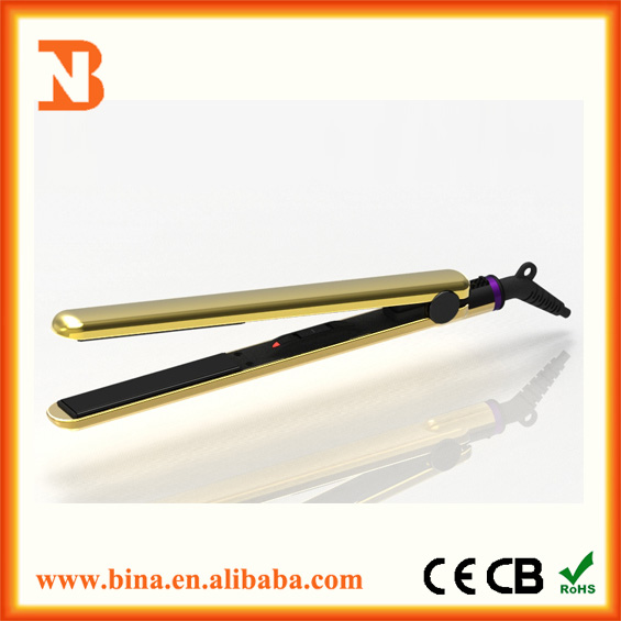 Fashion gold hair straighteners 220v flat iron wholesale