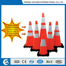 SUZY Type Traffic safety cones with reflective collars attached