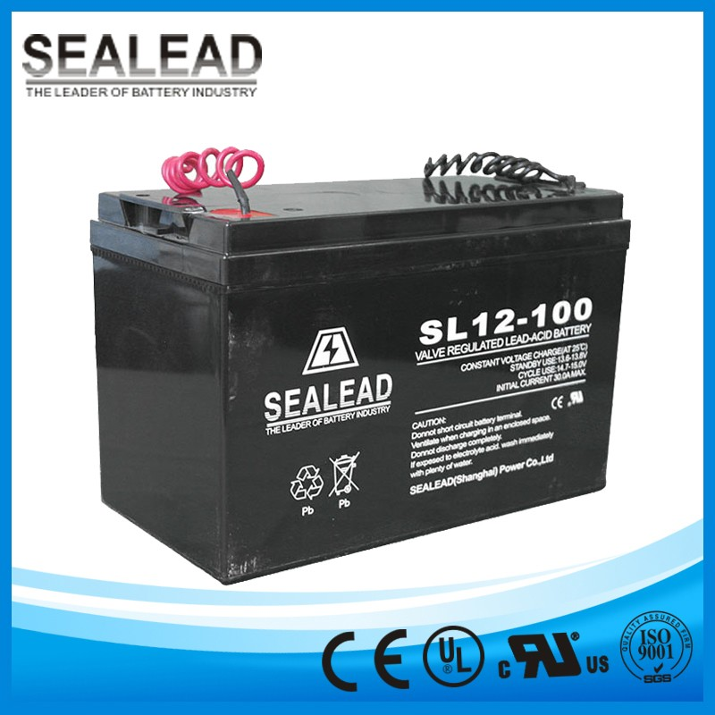 Hot sale UL CE certificate 12v ups deep cycle battery for home solar lighting system