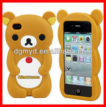 3D Animal Rilakkuma Bear Silicone Mobile Phone Case For iphone