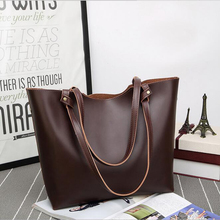 DM 417 wholesale retro leather tote big bag fashion blank should brown ladies handbags