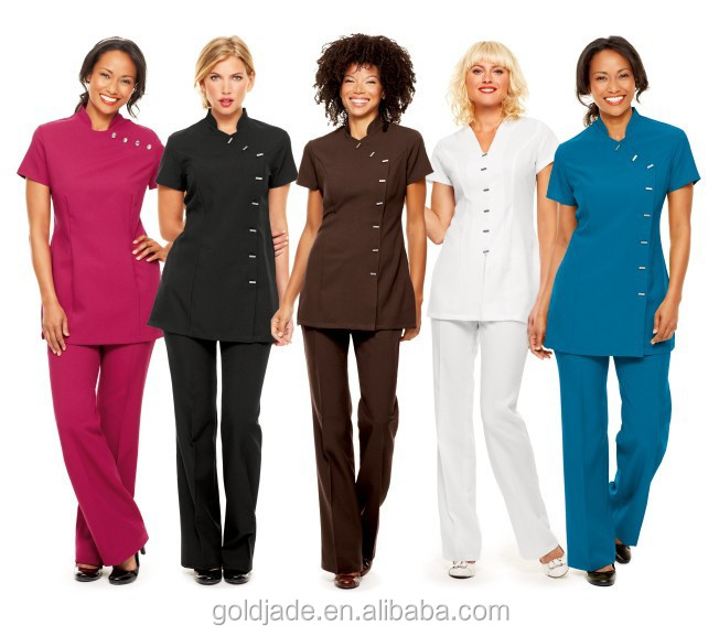 Customize salon of beauty uniform for beauty salon buy for Spa uniform indonesia