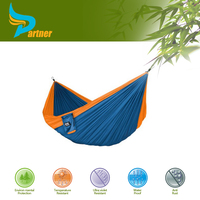 Customized Size Blue Outdoor 100% Nylon Parachute Hammock with Tree Straps
