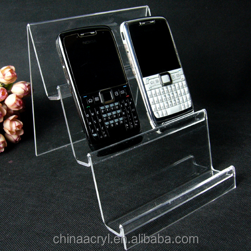 High-end cell phone holder showcase clear acrylic mobile phone display