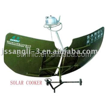 Solar cooker for home use heating water